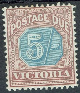 VICTORIA 1890 POSTAGE DUE 5/- NO GUM