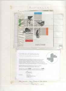 Australia Stamp 2007 Numbered Imperforate Landmarks Miniature Sheet Limited  #65