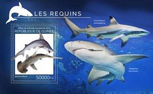GUINEA - 2019 - Sharks - Perf Souv Sheet - M N H