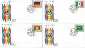 United Nations New York 450-65 FDC 1985 Flag Series Geneva Cachet