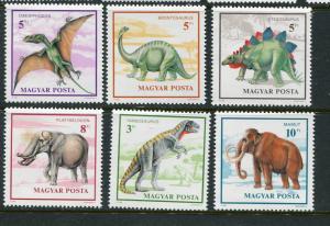 Hungary #3263-8 MNH  Dinosaurs