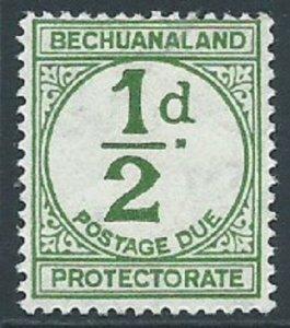 Bechuanaland Protectorate, Sc #J4, 1/2d MH