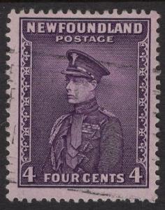 Newfoundland  #188  used  1932   4c  Prince of Wales  violet