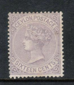 Ceylon #93 (SG #20) Mint Fine Unused (No Gum) Perf 14 Watermark Crown **Cert.**