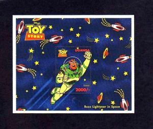 UGANDA - 1997 - DISNEY - TOY STORY - BUZZ LIGHTYEAR IN SPACE - MINT MNH S/SHEET!