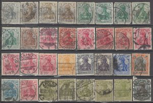 COLLECTION LOT OF #1183 GERMANY 32 GERMANIA STAMPS 1902+ CLEARANCE CV + $40