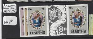 LESOTHO   (PP1208B)  DIANA SET OF 3 IMPERF PRS SG 335-7   MNH