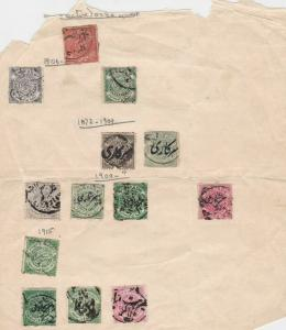 india states  stamps on 1 album page ref 13413