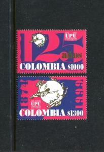Colombia 1161-1162, MNH, UPU 125th Ann 1999. x23459