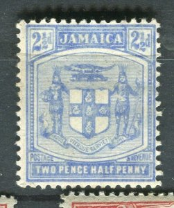 JAMAICA; 1905-11 early Arms issue Mint hinged 2.5d. value