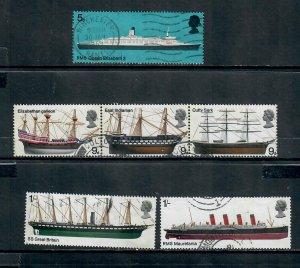 G.B 1969 COMMEMORATIVES  SET SHIPS USED  h 151220