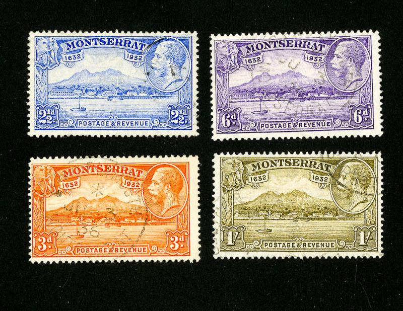 Montserrat Stamps # 79-82 VF Used Set of 4 Scott Value $138.00