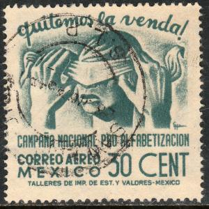 MEXICO C153, 30cents Blindfold, Literacy Campaign Used (846)