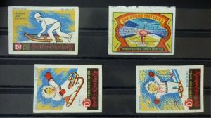 Match Box Labels ! sport everest skiing GN80