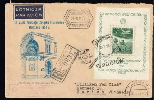 POLAND STAMP FDC COVER COLLECTION LOT  1954