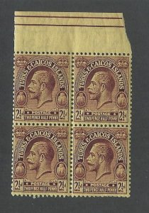 Turks and Caicos   block of four mnh S.C. 49