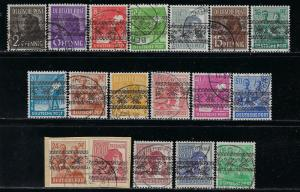 Germany AM Post Scott # 600 - 616, used, incl # 614a, exp h/s, cpl. set