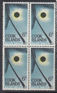 COOK ISLANDS, Scott 159, MNH block