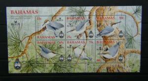 Bahamas 2006 Bird life International Bahama Nuthead Miniature Sheet MNH