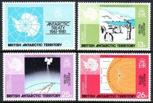 British Antarctic Territory 82-85, MNH. Antarctic Treaty,20th ann. Research,1981