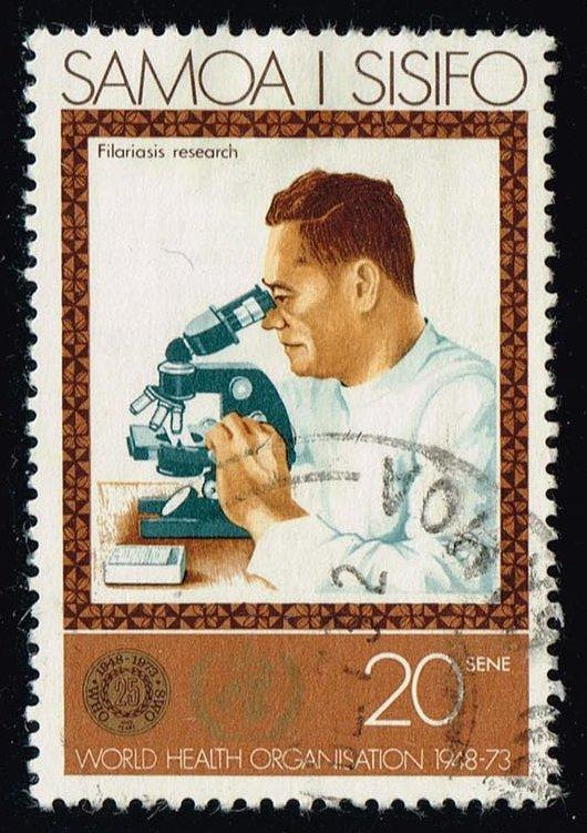 Samoa #389 Filariasis Research; Used (0.35)