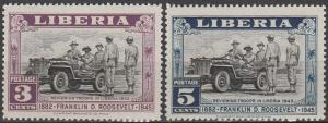 Liberia #296-7  MNH VF  (V3740)