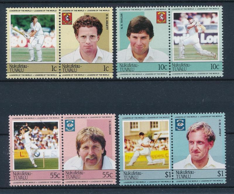 [44369] Tuvalu Nukufetau 1985 Sports Cricket MNH