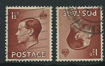 GB Edward VIII  SG 459wi and 459 Used