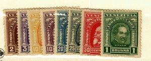 Venezuela 8 Fiscal stamps MNH