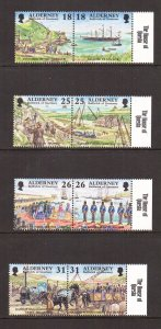 Alderney  #106a-113a   MNH  1997-1998  Garrison Island in pairs