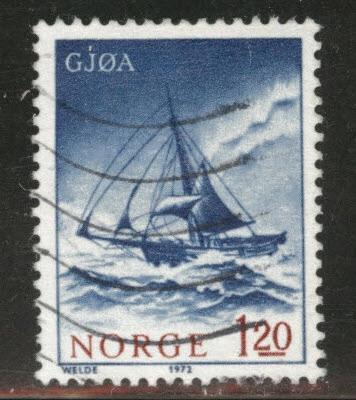 Norway Scott 598 used 1972 ship stamp