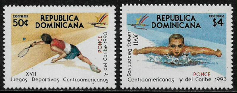 Dominican Rep #1140-1 MNH Set - Sports Games