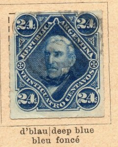 Argentina 1877-78 Early Issue Fine Used 24c. NW-11794