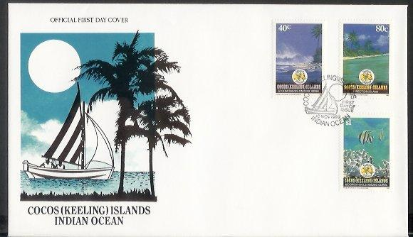 Cocos Is - 1992 Christmas (FDC)