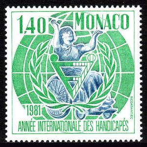 Monaco 1281, MNH. International Year of the Disabled, 1981