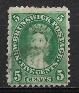 1860 New Brunswick Sc8 5¢ Queen Victoria used
