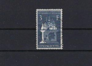 LUXEMBOURG EUROPEAN COAL & STEEL USED 3F BLUE STAMP CAT £38   REF 4901