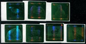 HERRICKSTAMP TURKMENISTAN Scott Unlisted Fauna Stamps (Green Foil)
