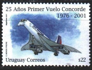 Uruguay. 2001. 2615. Concord, aircraft, aviation. MNH.