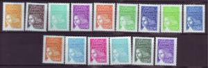 J20374  jlstamps 2002 france set mnh #2849-63 marianne with euro