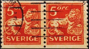 Sweden. 1920 5ore(Coil Pair) S.G.97A Fine Used