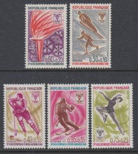France B411-B415 Winter Olympics MNH VF