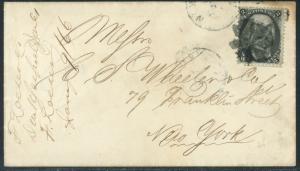 Cover - Sc# 73 Black Jack - Fancy Cancel 1866   S1815