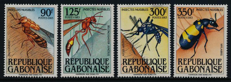 Gabon 547-50 MNH Harmful Insects