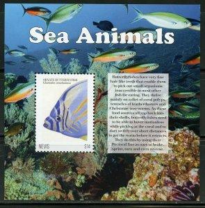 NEVIS 2020 SEA  ANIMALS SOUVENIR SHEET MINT NH