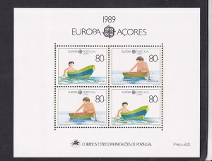 Portugal  Azores   #382   1989   MNH  Europa  sheet  children`s toys