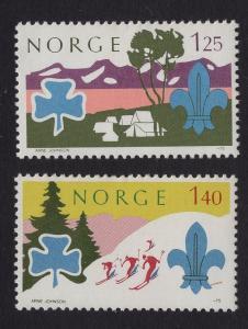 Norway  #656-657  1975   MNH  scouting  jamboree