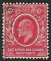 British East Africa Uganda # 33 - King Edward VII - used -   {BRN5]
