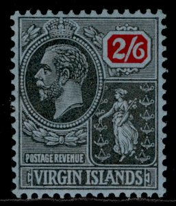BRITISH VIRGIN ISLANDS GV SG100, 2s 6d black & red/blue, M MINT. Cat £19.
