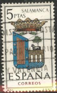 SPAIN Scott 1085 Used Salamanca Coat of Arms